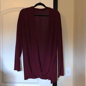 Burgundy cardigan 2x